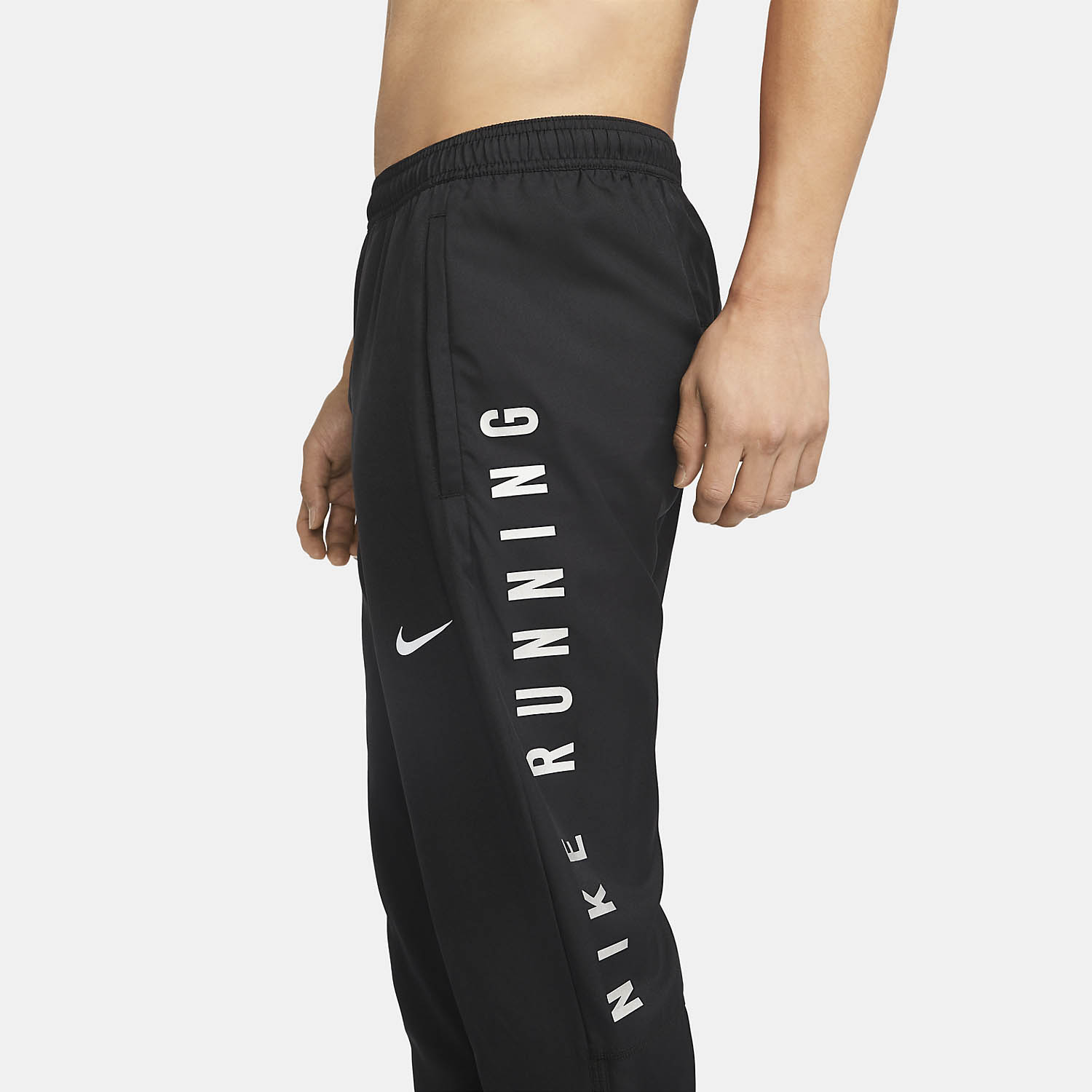 Nike Essential Run Division Pants - Black/Reflective Silver