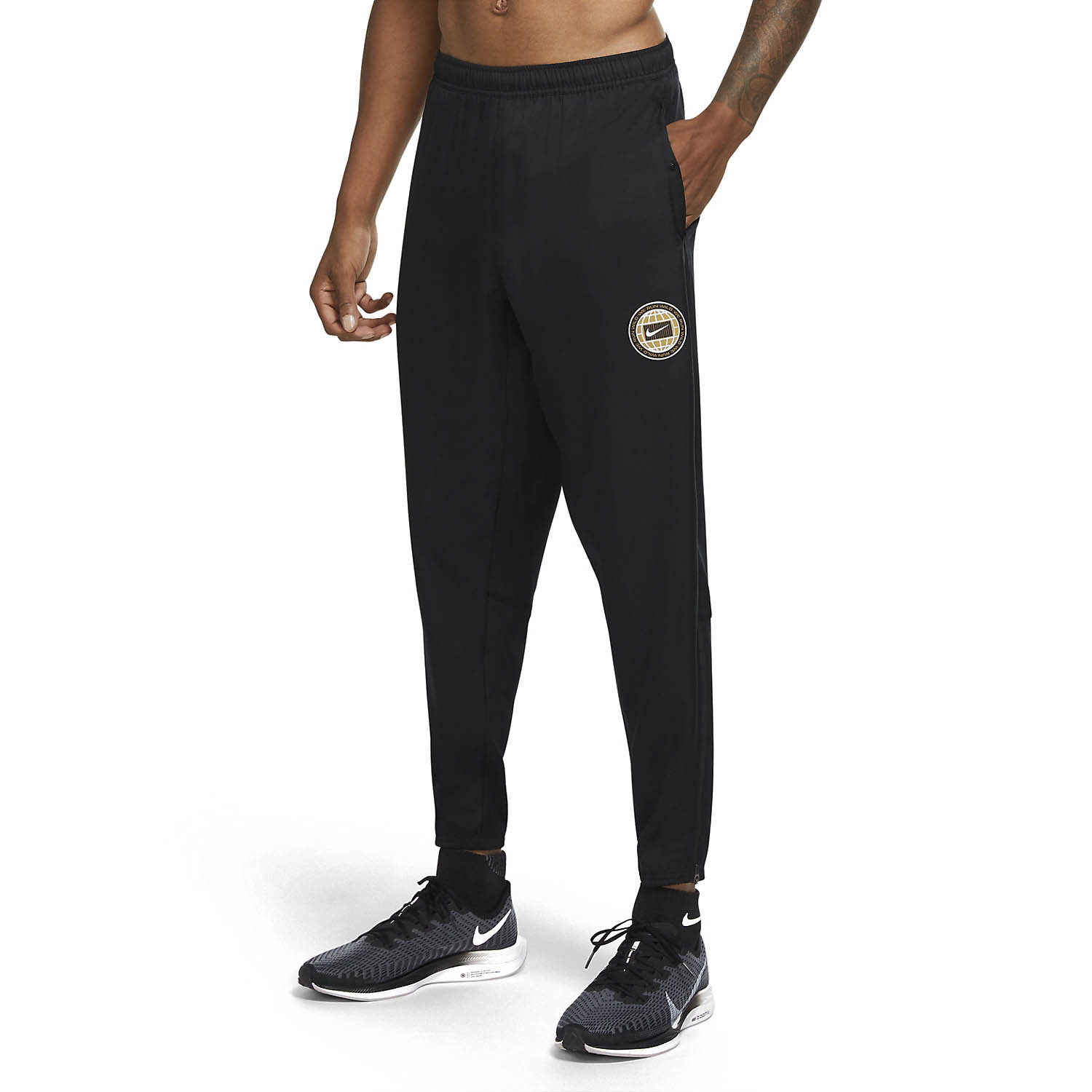 Nike Essential Wild Run Pants - Black/Particle Grey/Reflective Silver