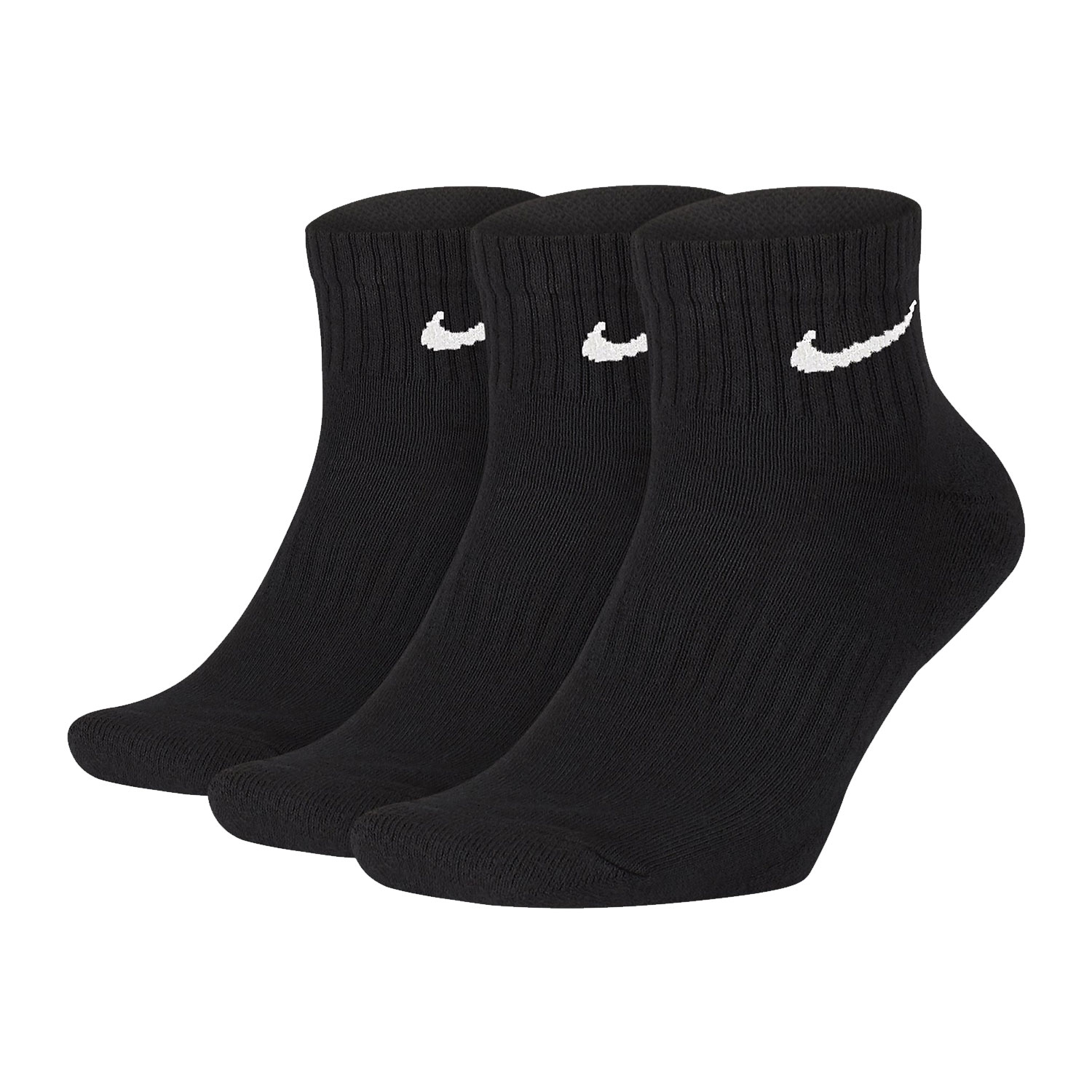 Nike Everyday Cushion Ankle x 3 Calze - Black/White