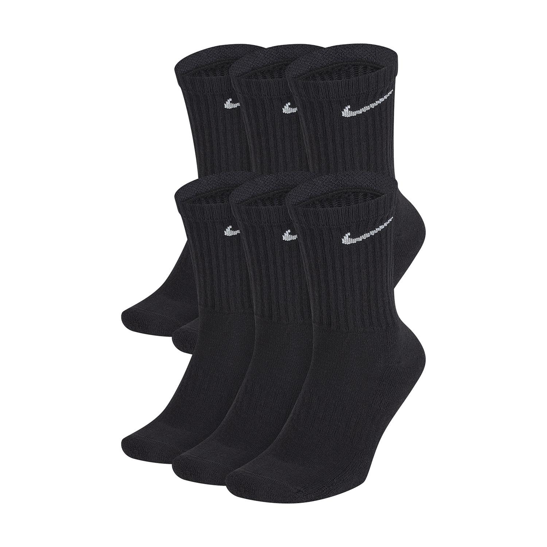 Nike Everyday Cushion Crew x 6 Socks - Black/White