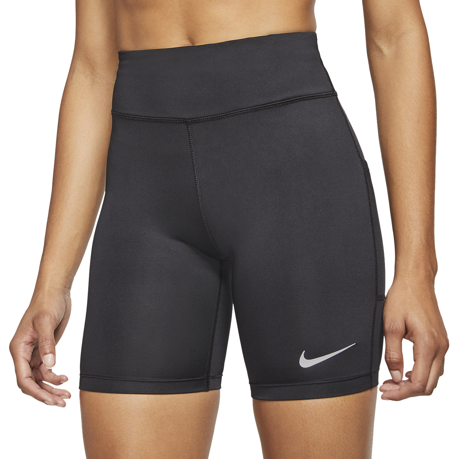 Nike Fast 7in Shorts - Black/Reflective Silver