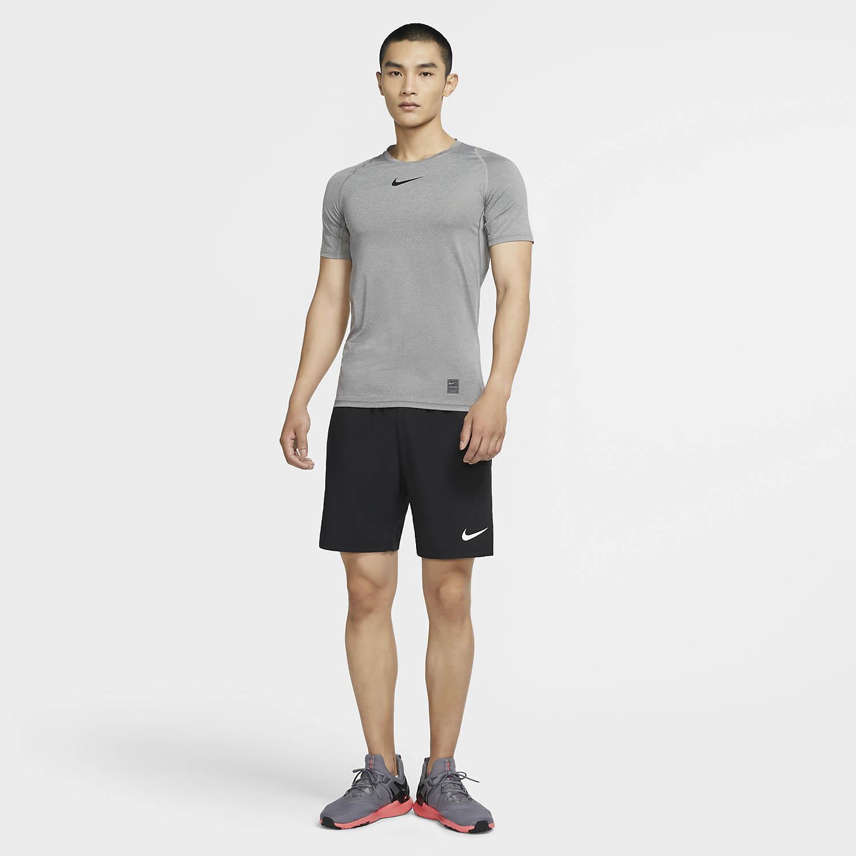 Nike Flex Woven 3.0 8in Shorts - Black/White