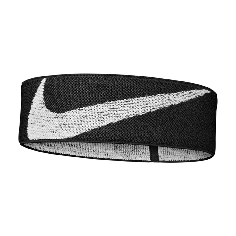Nike Logo Knit Elastic Headband - Black/White