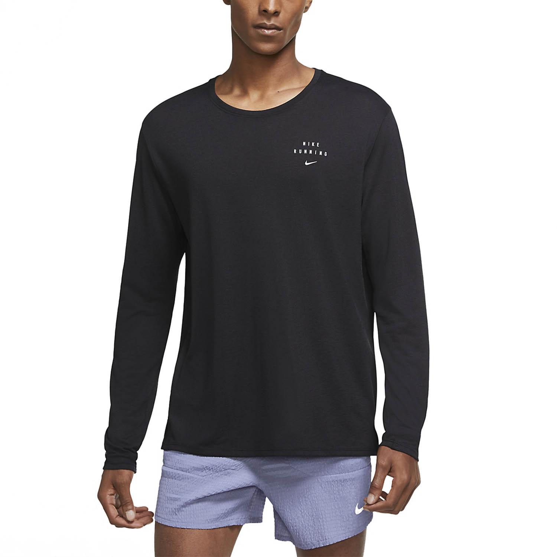 Nike Miler Run Division Shirt - Black/Reflective Silver