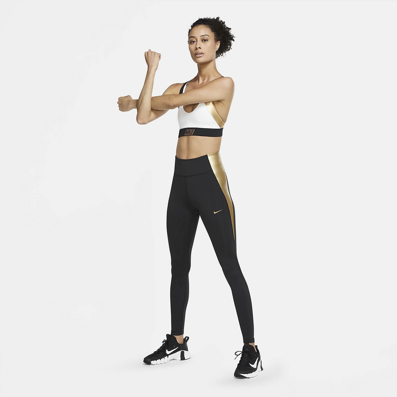 Nike One Tights - Black/Metallic Gold