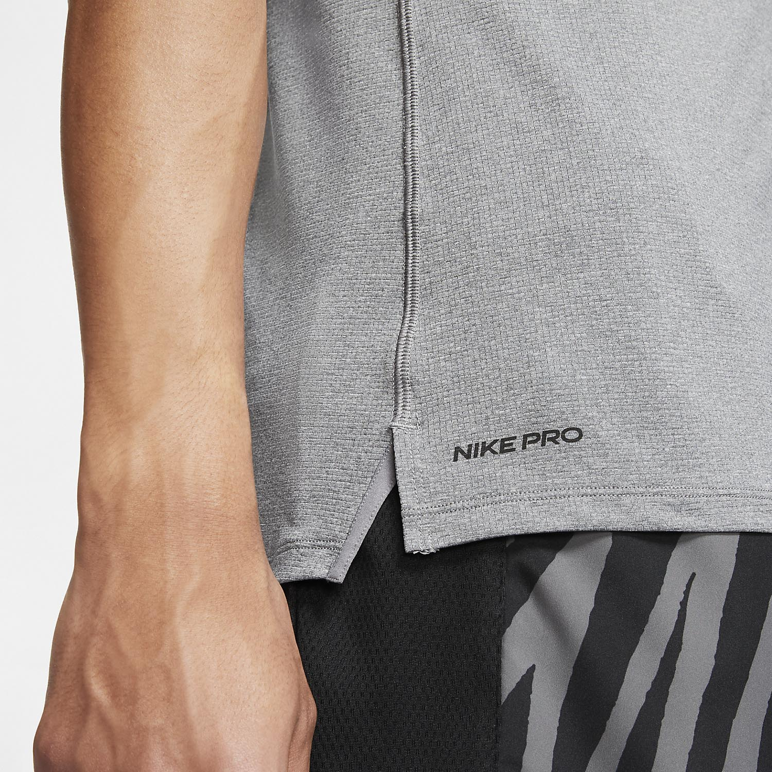 Nike Pro Breathe Tank - Smoke Grey/Black