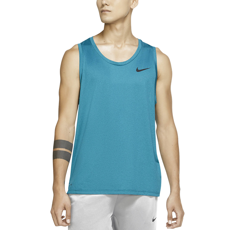 Nike Pro Tank - Obsidian/Bright Spruce/Heather/Black