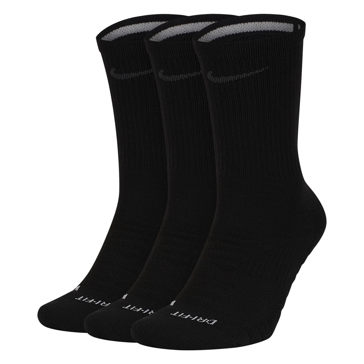 Nike Pro Everyday Max Cushioned x 3 Socks - Black/Wolf Grey