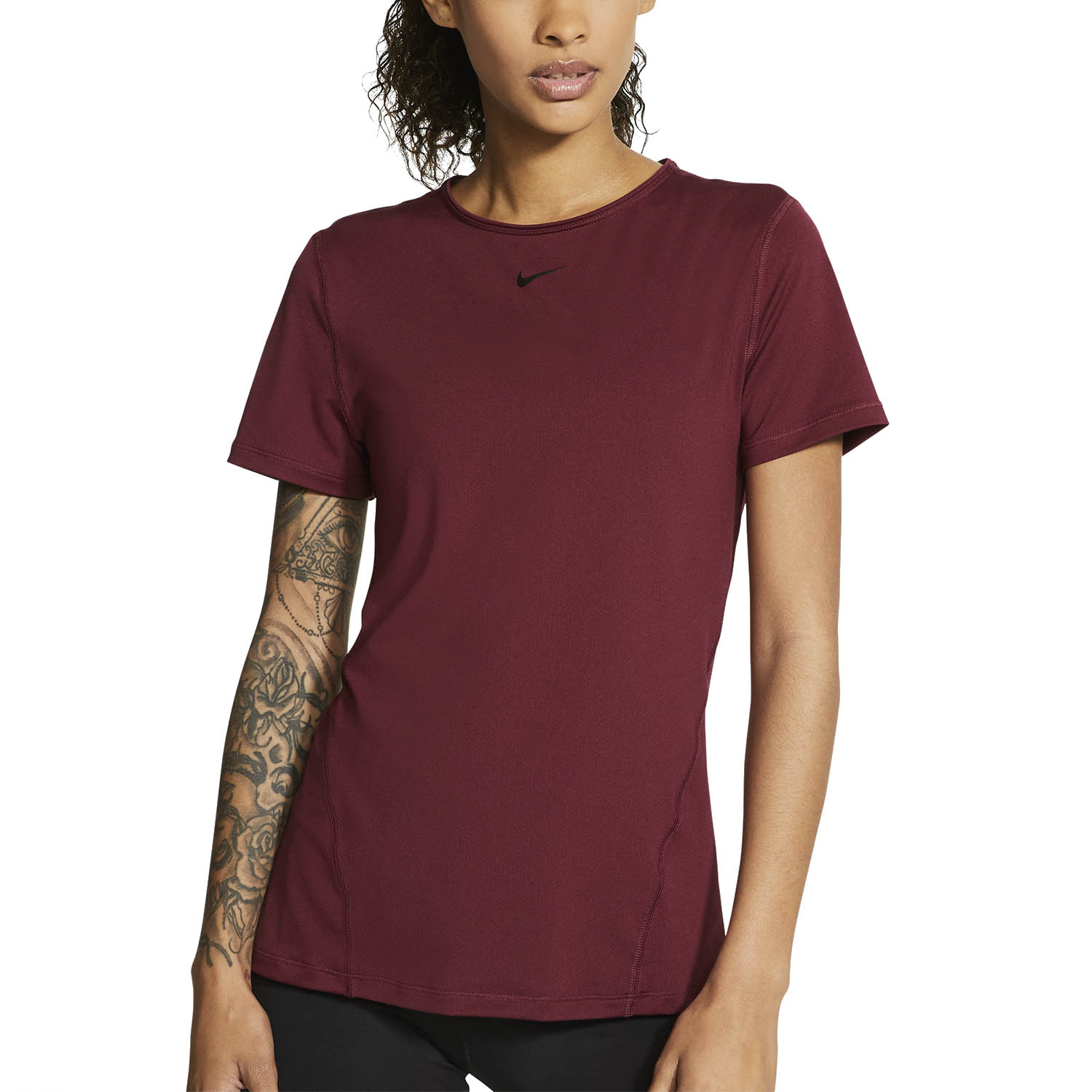 Nike Pro T-Shirt - Dark Beetroot/Black