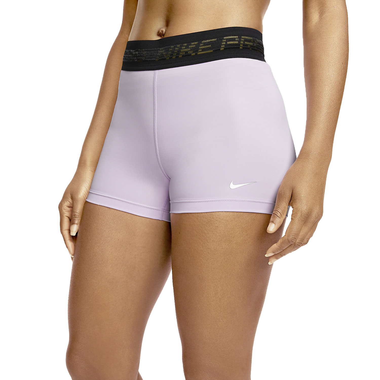 Nike Pro 3in Shorts - Infinite Lilac/Black/Metallic Silver