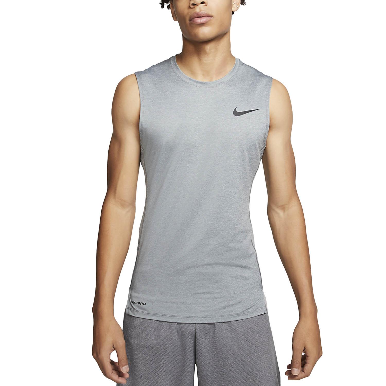 Nike Pro Swoosh Tank - Smoke Grey/Light Smoke Grey/Black