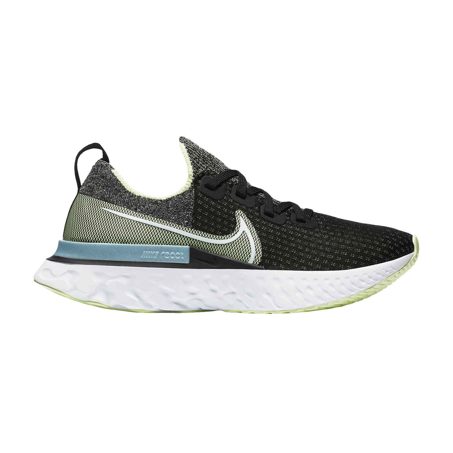 Nike React Infinity Run Flyknit - Black/White/Barely Volt/Glacier Ice
