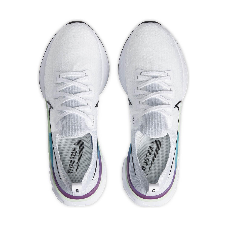 Nike React Infinity Run Flyknit - White/Black/Vapor Green/Oracle Aqua