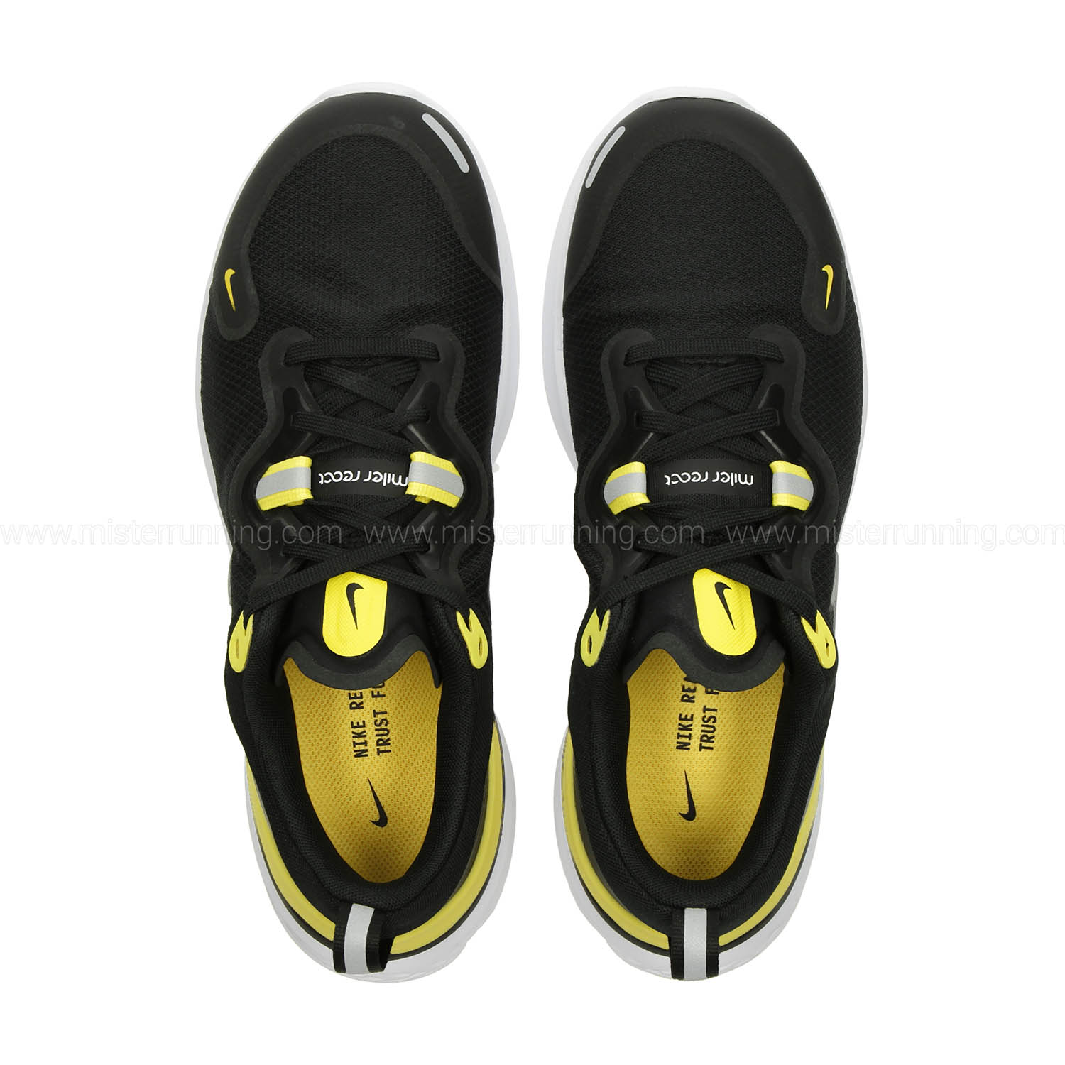 Nike React Miler - Black/Metallic Silver/Opti Yellow/White