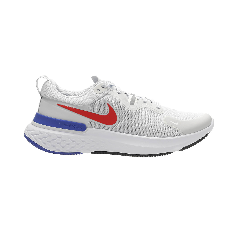 Nike React Miler - Pure Platinum/Bright Crimson/Racer Blue