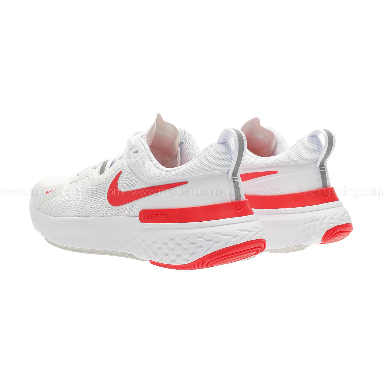 Nike React Miler - White/Laser Crimson/Photon Dust