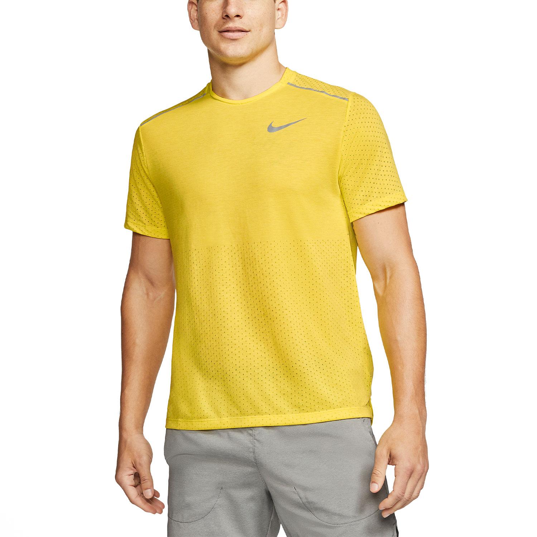 Nike Rise 365 Maglietta Opti YellowHeatherReflective Silver