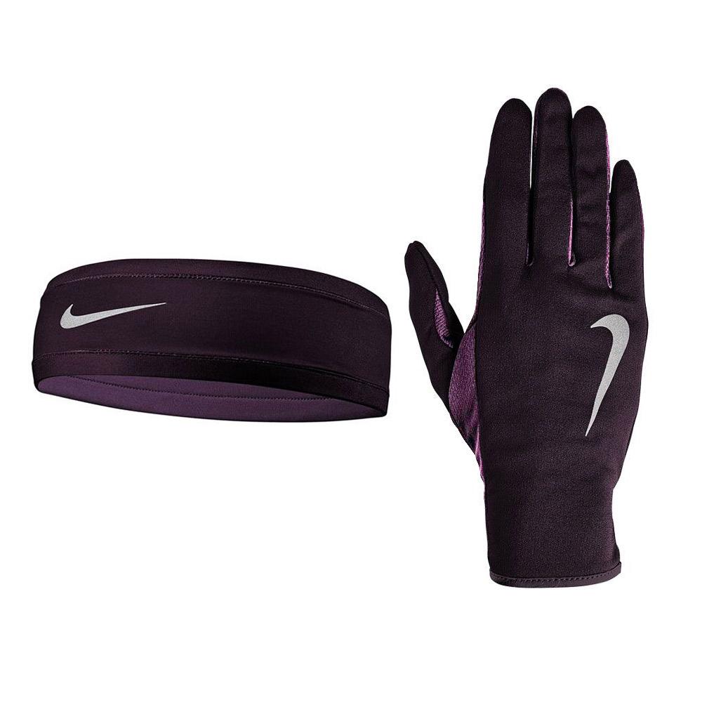Nike Run Fascia e Guanti Donna - Purple