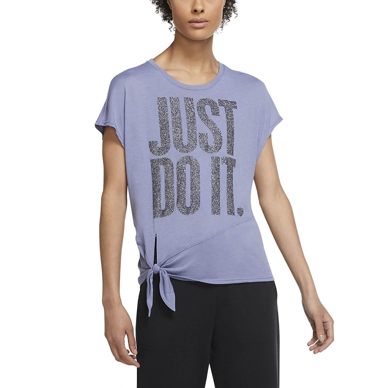 Nike Sleeve Sparkle Camiseta - World Indigo/Black