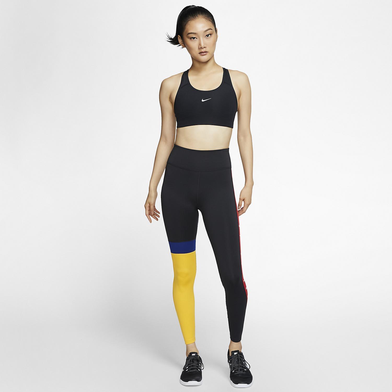 Nike Swoosh Sports Bra - Black/White