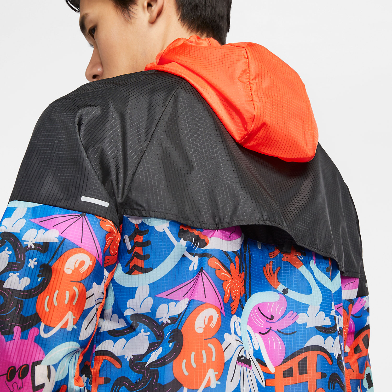 Nike Tokyo Windrunner Jacket - Black/Team Orange