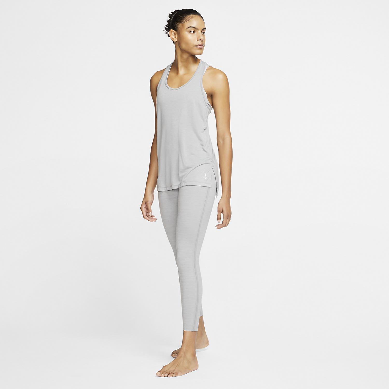 Nike Yoga Tank - Particle Grey/Heather/Platinum Tint
