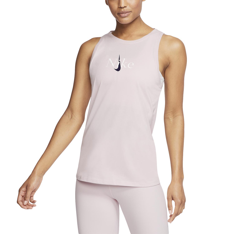 Anonimo Kills benedire  Nike Yoga Logo Women's Training Tank - Barely Rose