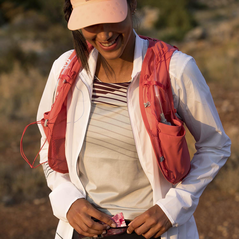 Salomon Adv Skin 8 Set Backpack - Cayenne/Porcelain Rose