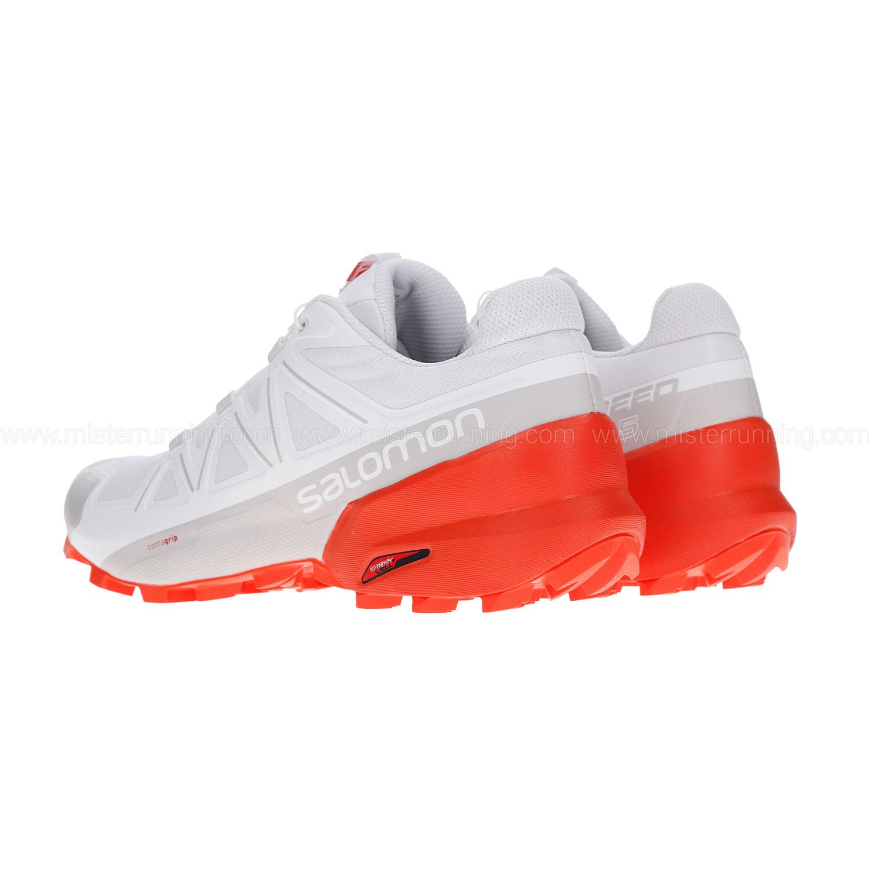 Salomon Speedcross 5 - White/Cherry Tomato