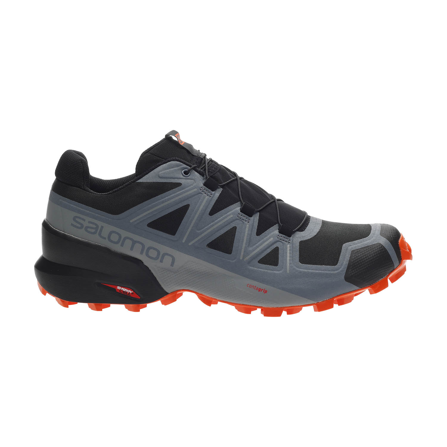 Salomon Speedcross 5 - Black/Stormy Weather/Red Orange