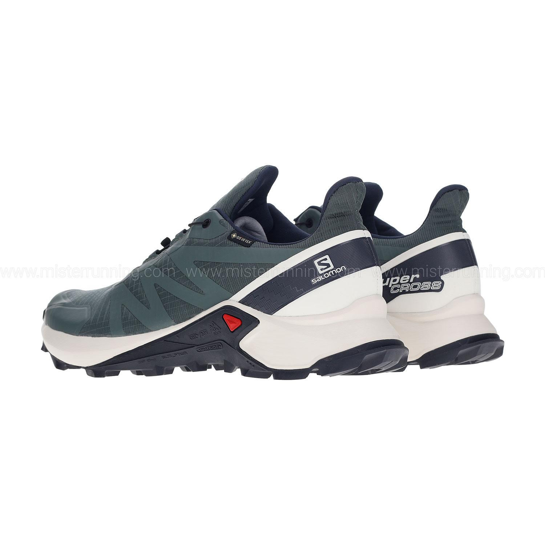 Salomon Supercross GTX Trail running shoes Balsam Green Vanilla Ice India Ink | 7,5 (UK)