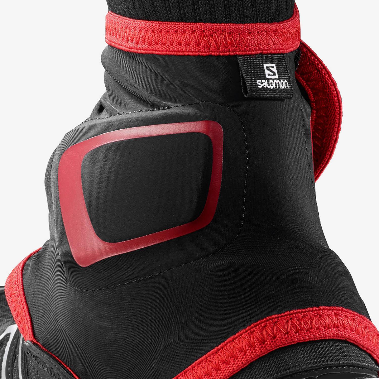 Salomon Trail High Gaiters - Black/Red
