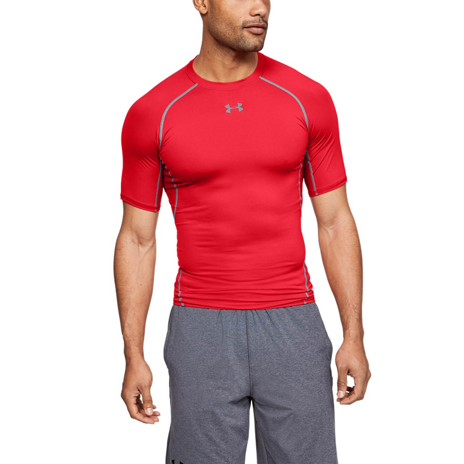Under Armour HeatGear Armour Compression T-Shirt - Red