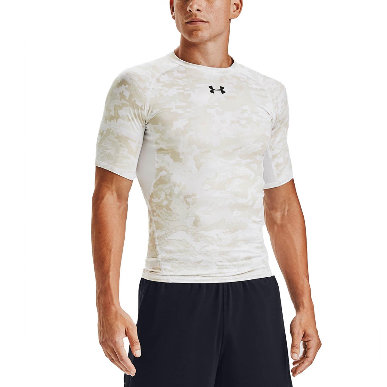 Under Armour HeatGear Camo T-Shirt - White/Pitch Grey