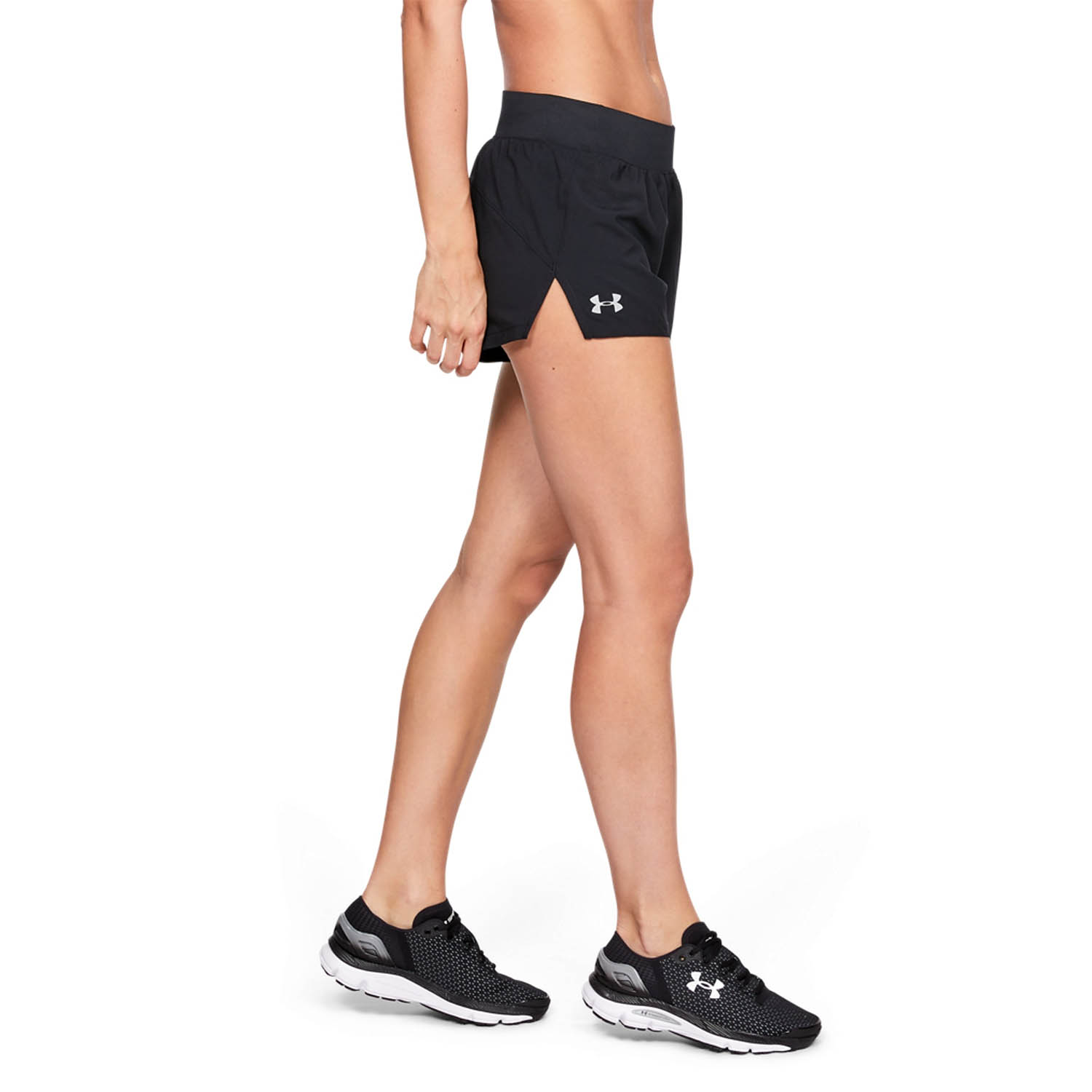 Under Armour Launch 3in Pantaloncini - Black/Reflective