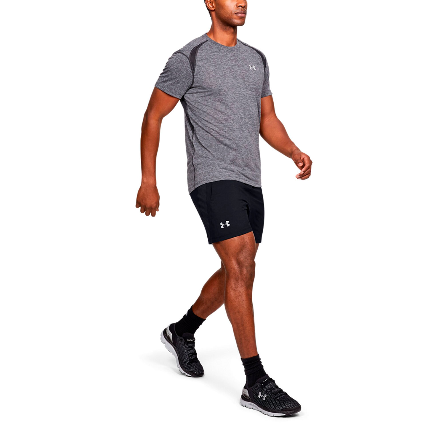 Under Armour Launch Stretch Woven 5in Shorts - Black