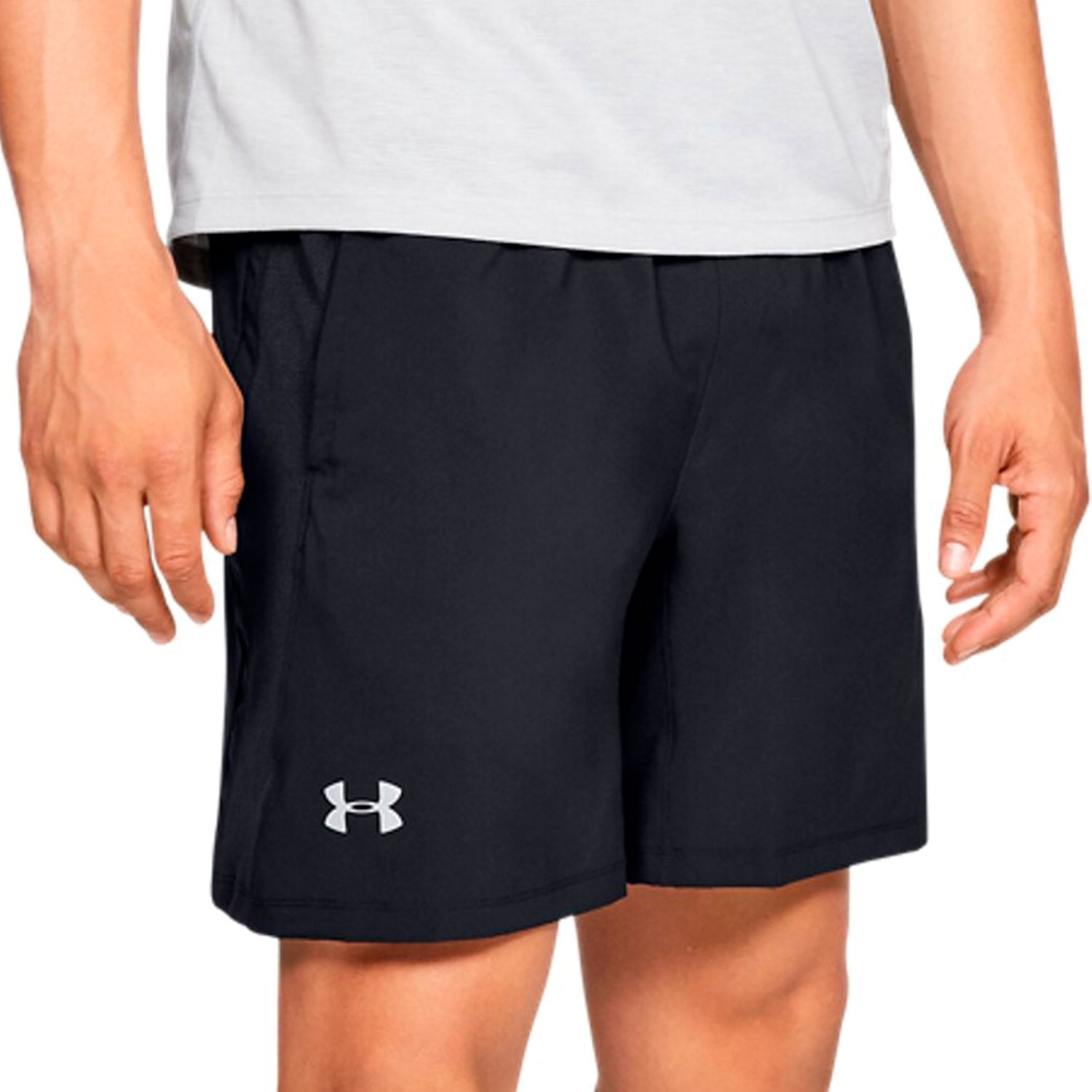 Pantaloncini da corsa lunghi da uomo Under Armour Launch SW 2 In 1 Nero colore
