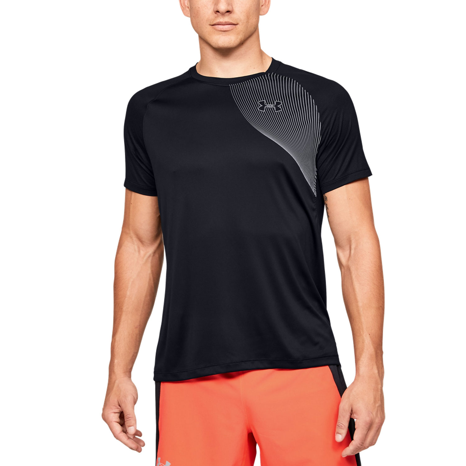 Under Armour Qualifier Iso-ChilL Logo T-shirt - Black
