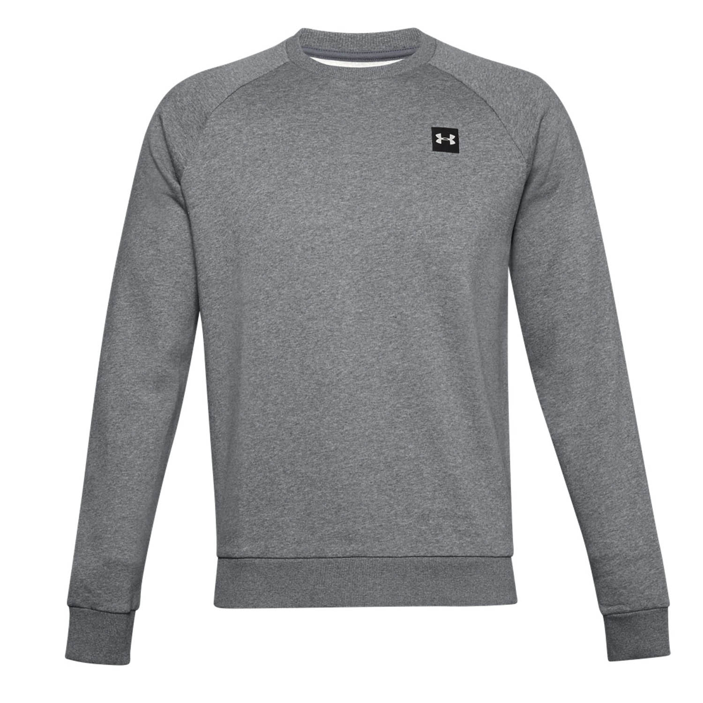 Under Armour Rival Crew Sweatshirt - Pitch Gray Light Heather/Onyx White