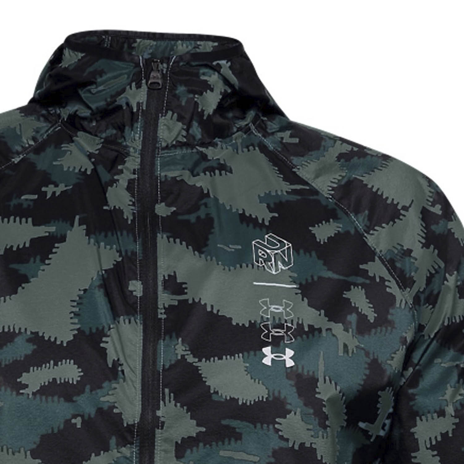 Under Armour Run Anywhere Storm Chaqueta - Lichen Blue/Electric Blue/Reflective