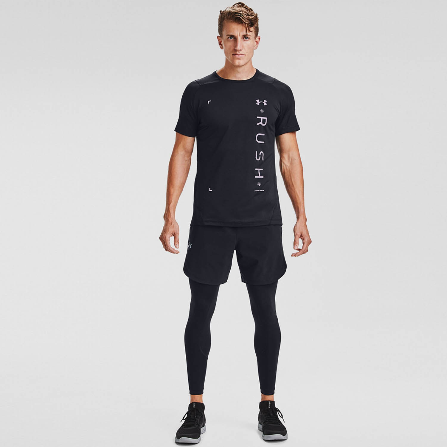 Under Armour Rush HeatGear 2.0 Graphic T-Shirt - Black/Reflective