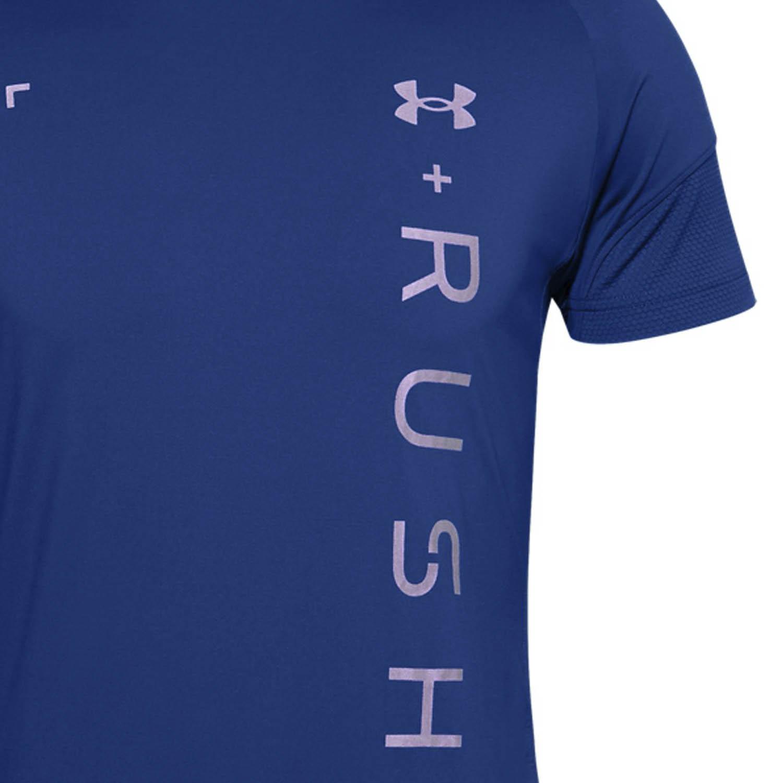 Under Armour Rush HeatGear 2.0 Graphic T-Shirt - Royal/Reflective