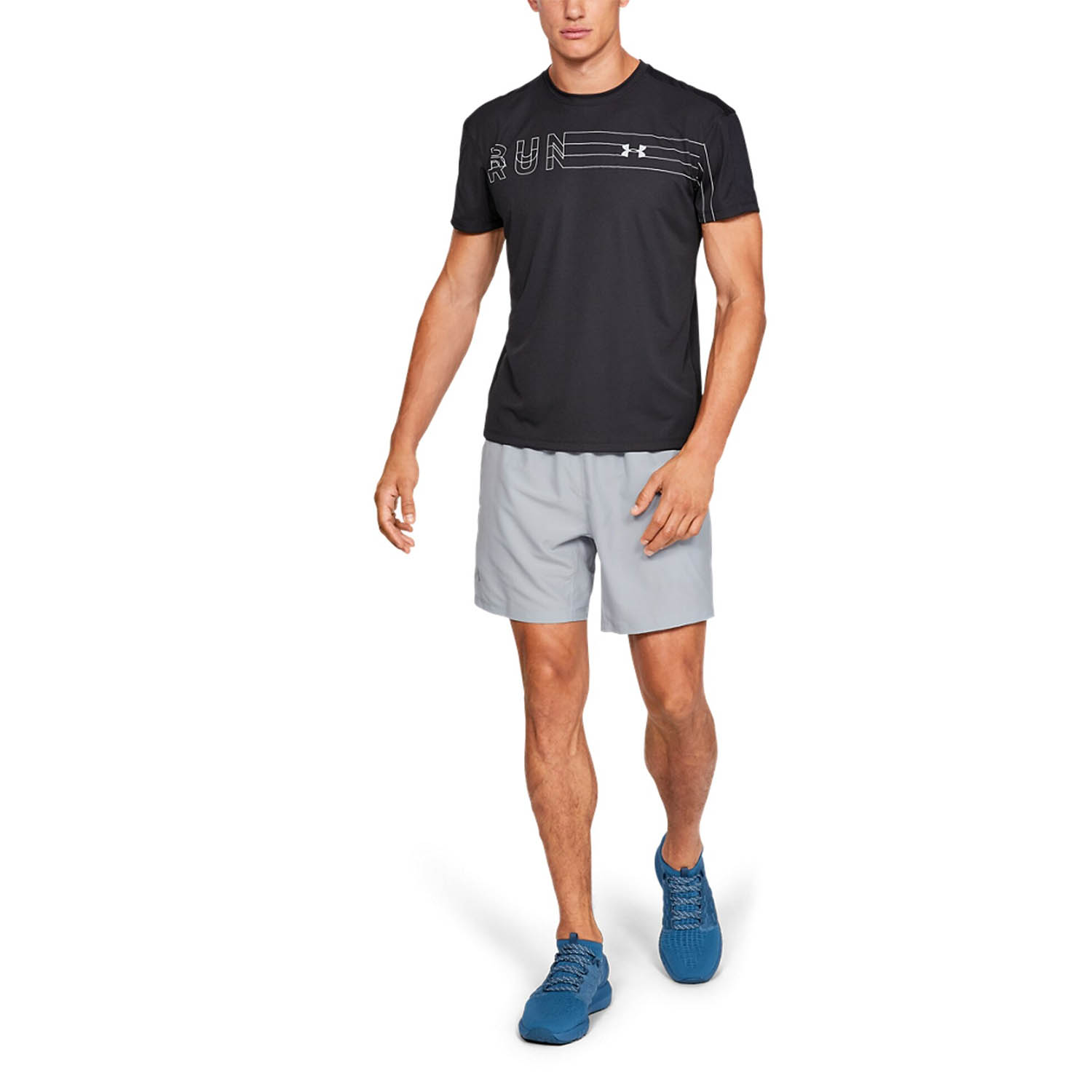 Under Armour Speed Stride Solid 7in Short - Mod Gray/Reflective
