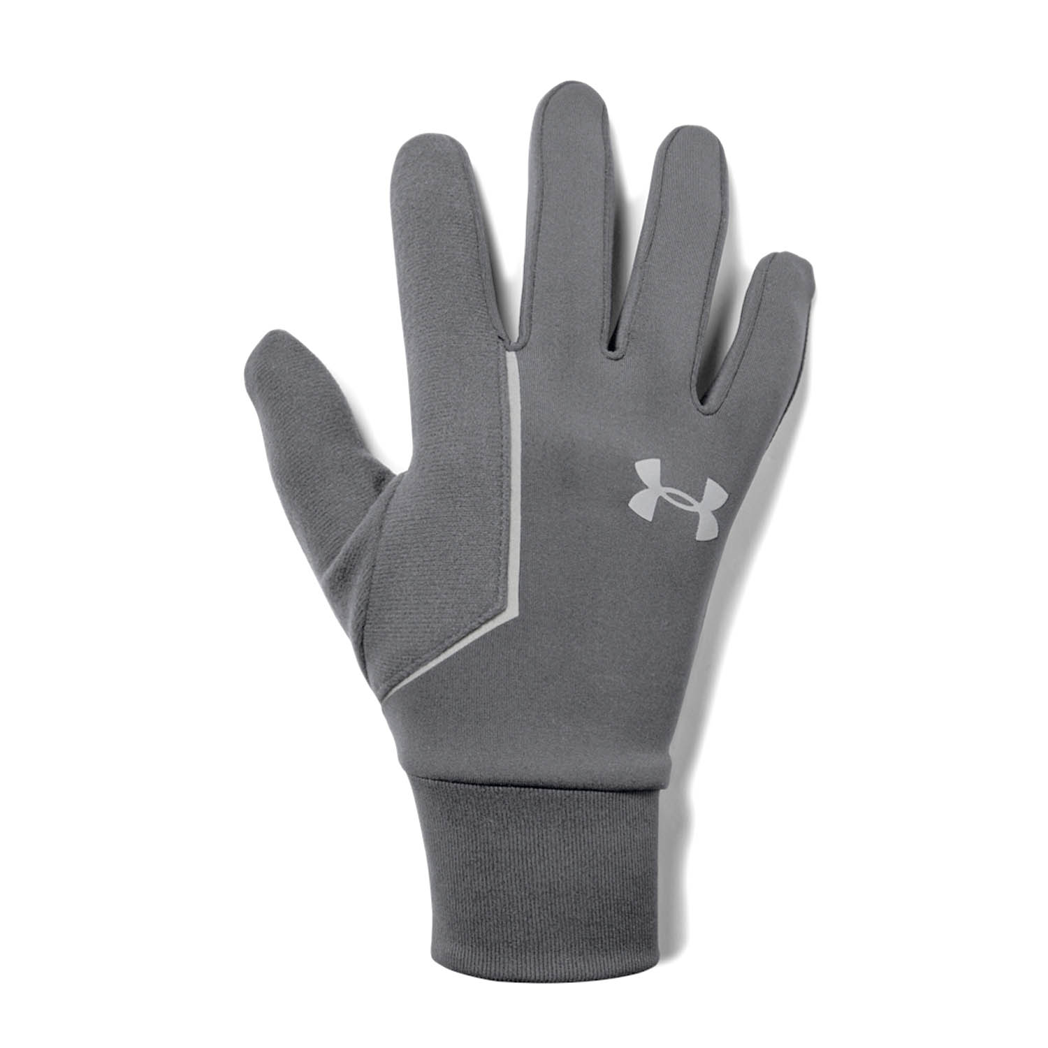 Under Armour Storm Run Liner Guantes - Pitch Gray/Silver Reflective