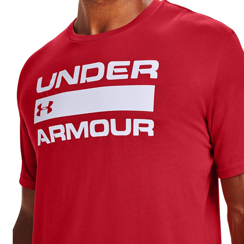 Under Armour Team Wordmark T-Shirt - Versa Red/White