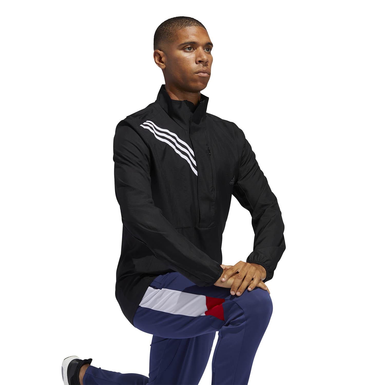 Adidas Run It 3 Stripe Jacket - Black