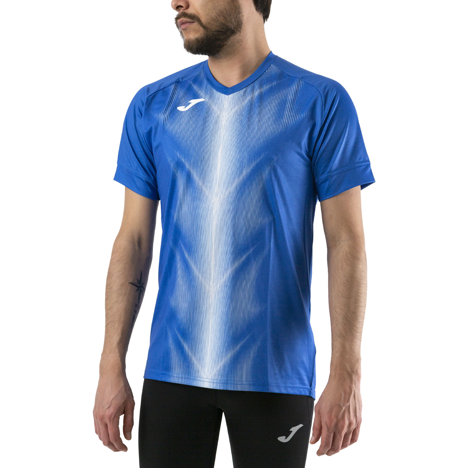 Joma Olimpia Graphic T-Shirt - Royal/White