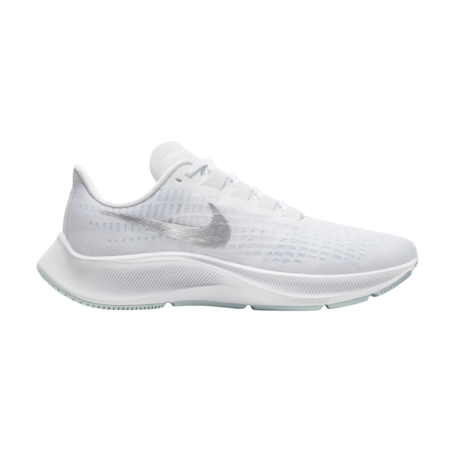 Nike Air Zoom Pegasus 37 WhiteMetallic SilverAura