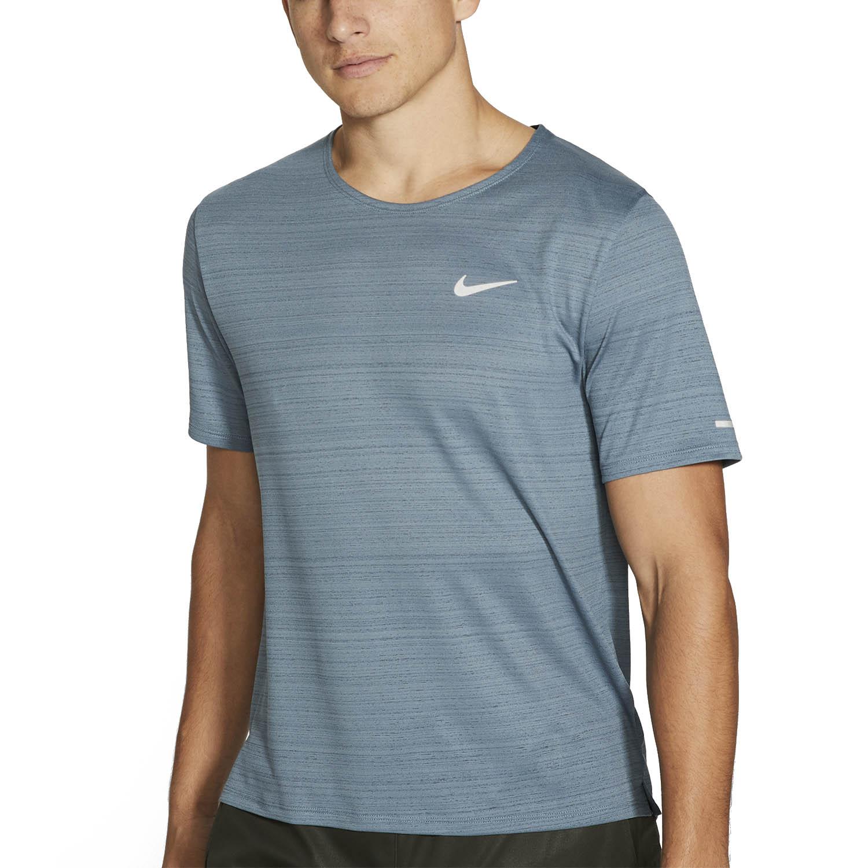 Nike Miler Wild Run Classic Maglietta Ozone BlueReflective Silver