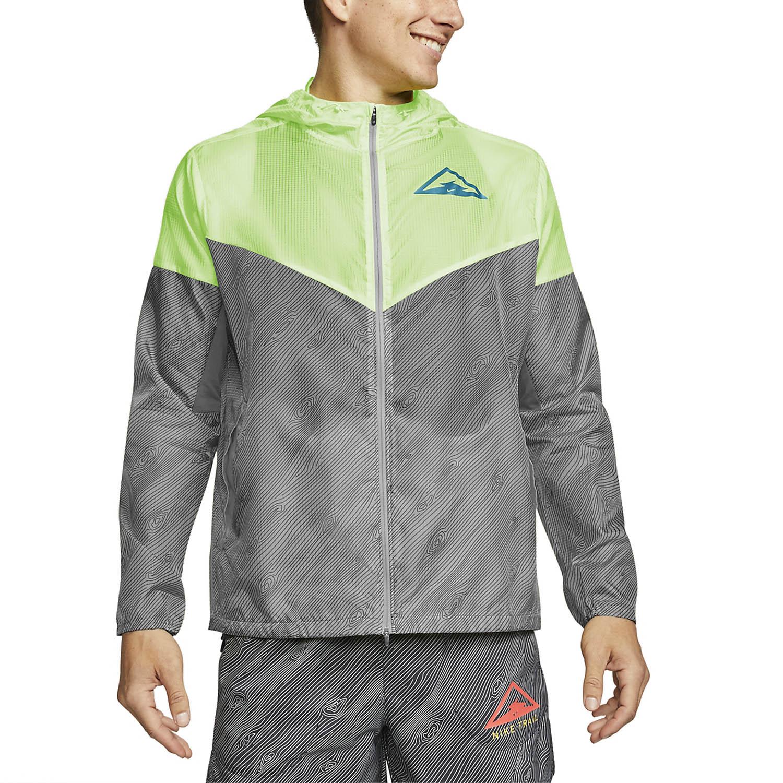Tiza En la cabeza de mínimo  Nike Windrunner Chaqueta de Trail Running Hombre - Particle Grey